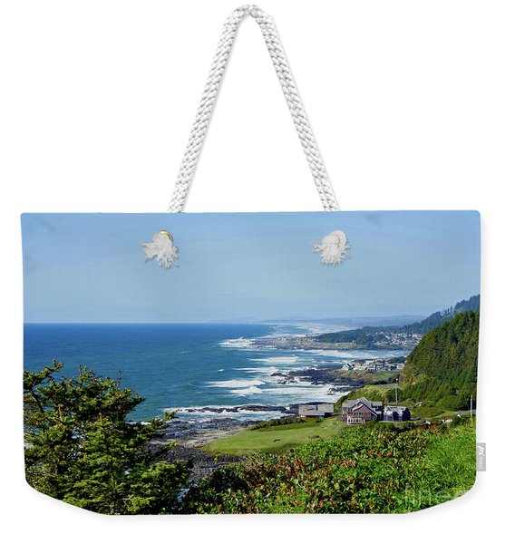 Along The Coastline On A Perfect Day Weekender Tote Bag