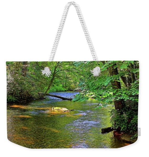 Along The Cullasaja River Weekender Tote Bag