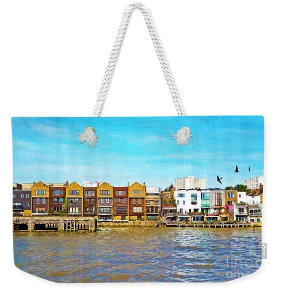 Along The River Thames Weekender Tote Bag