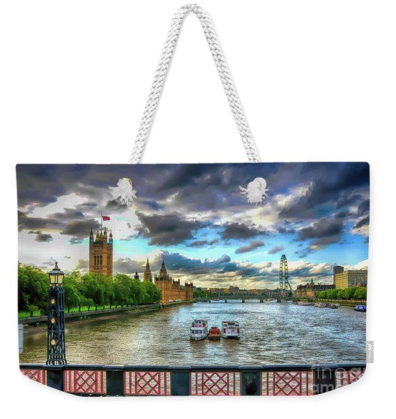 Along The Thames Weekender Tote Bag