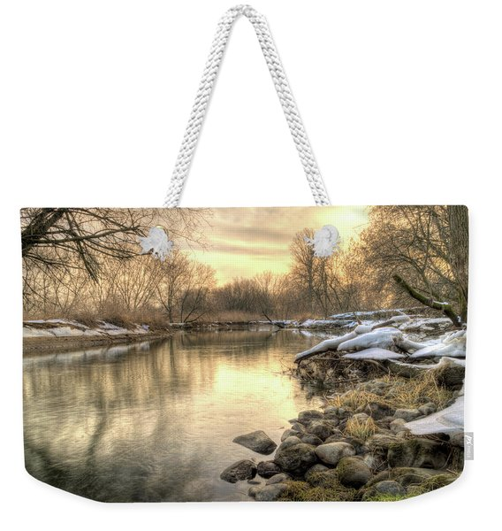 Weekender Tote Bag featuring the photograph Along The Thames River Signed by Garvin Hunter