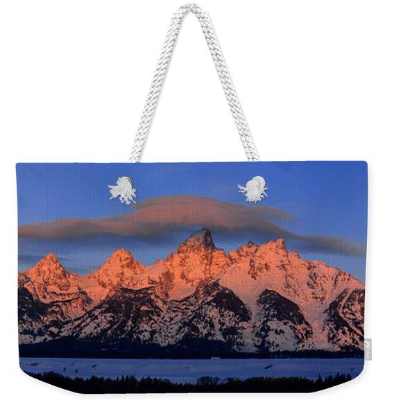 Alpenglow Tetons 2 Weekender Tote Bag