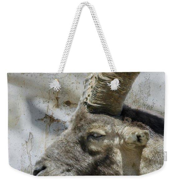 Alpine Ibex Textured Weekender Tote Bag