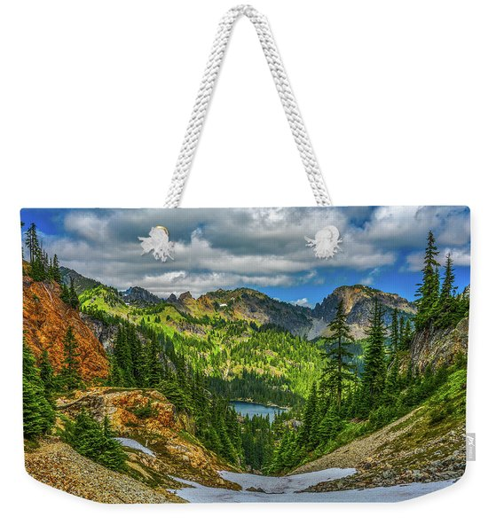 Alpine Solitude Weekender Tote Bag