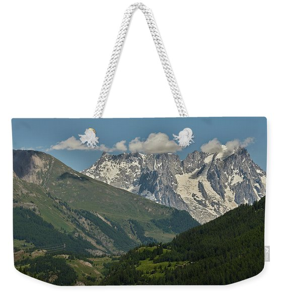 Alps In The Distance Weekender Tote Bag