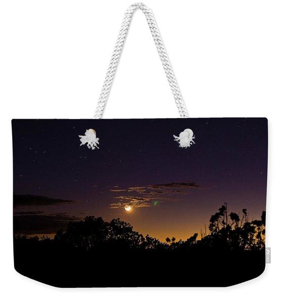 Alternate Moon Weekender Tote Bag