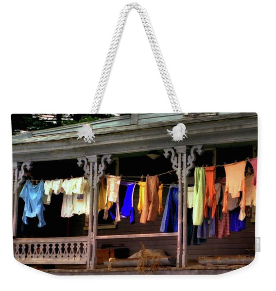 Weekender Tote Bag featuring the photograph Alton Washday Expressions by Wayne King