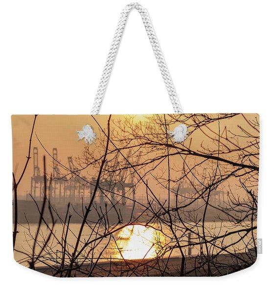 Altonaer Balkon Sunset Weekender Tote Bag