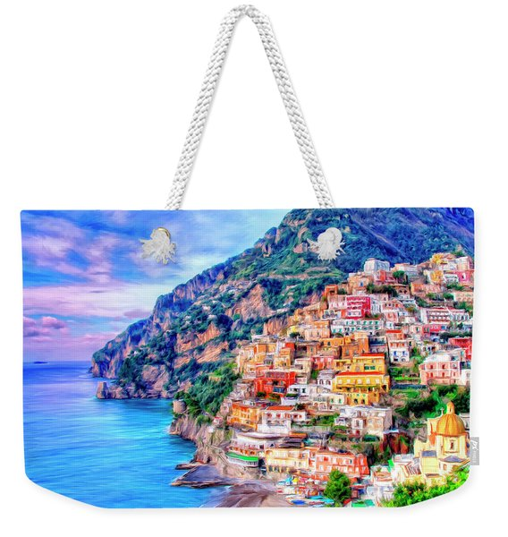 Amalfi Coast At Positano Weekender Tote Bag