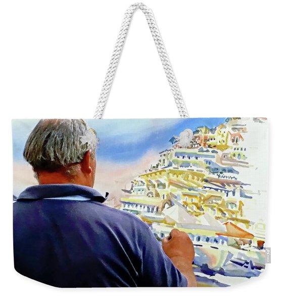 Amalfi Coast Street Artist - Positano, Italy Weekender Tote Bag