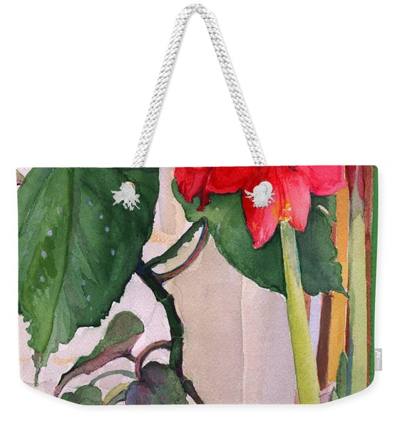 Amaryllis And Begonia Weekender Tote Bag