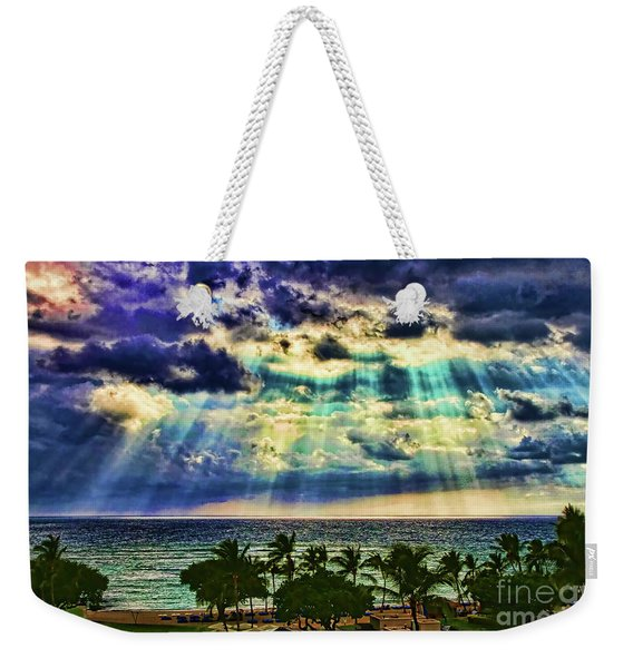 Amazing Grace - Sun Rays Before Sunset By Diana Sainz Weekender Tote Bag