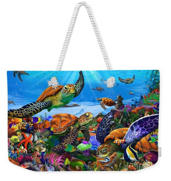 Amazing Undersea Turtles Weekender Tote Bag