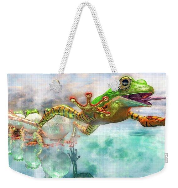 Amazon Frog Mighty Jumper Weekender Tote Bag