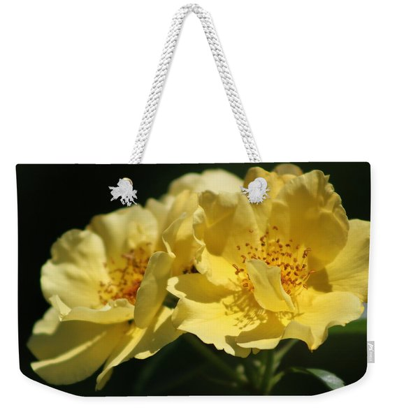 Amber Yellow Country Rose Weekender Tote Bag