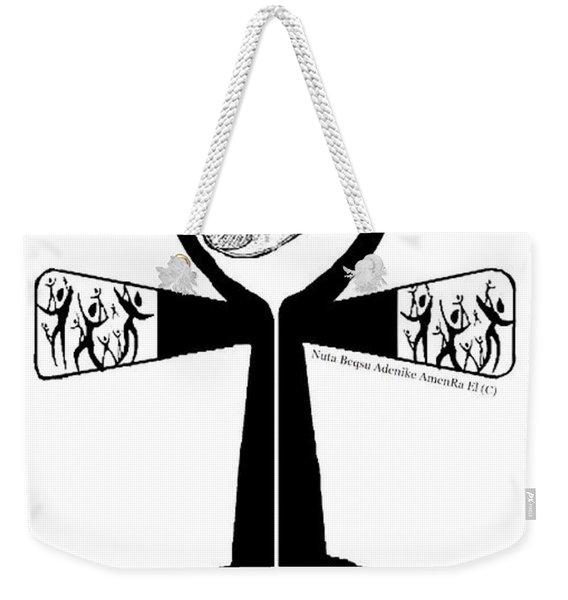 Amen Ankh Bw Weekender Tote Bag