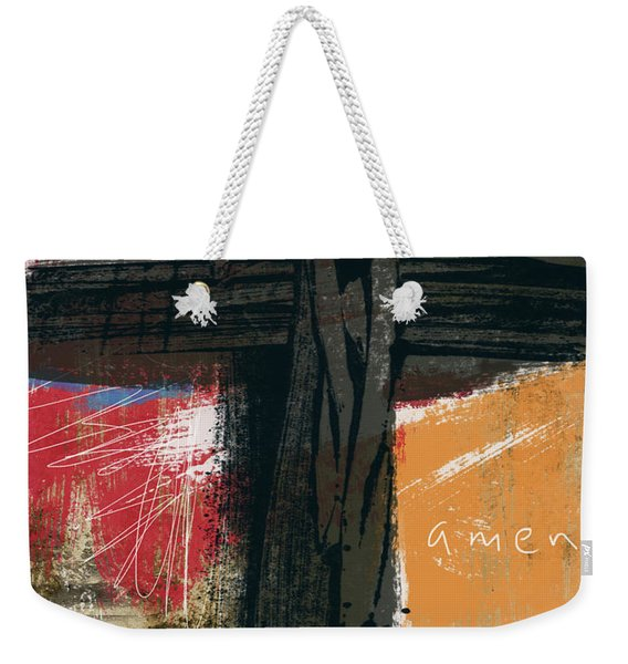 Amen Contemporary Cross- Art By Linda Woods Weekender Tote Bag
