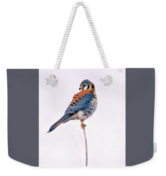 Amercian Kestrel Weekender Tote Bag