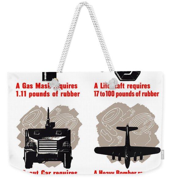 America Needs Your Scrap Rubber Weekender Tote Bag