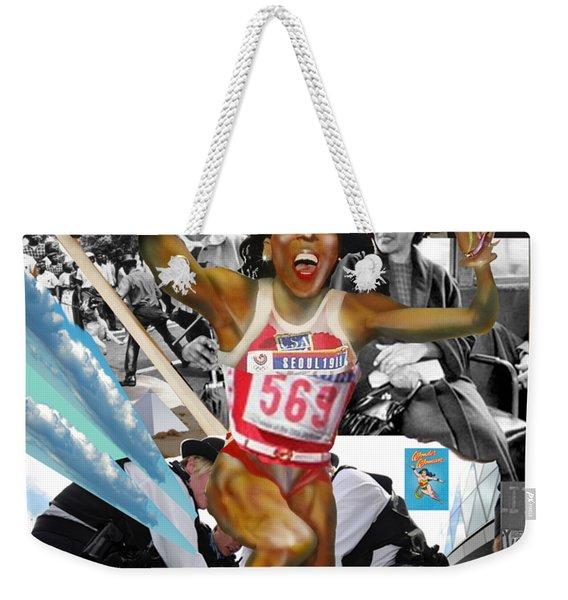 America On Her Back Weekender Tote Bag