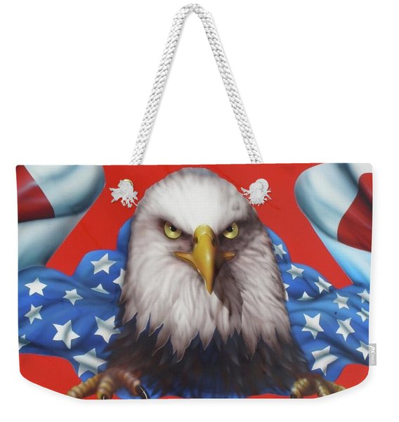 America Patriot  Weekender Tote Bag
