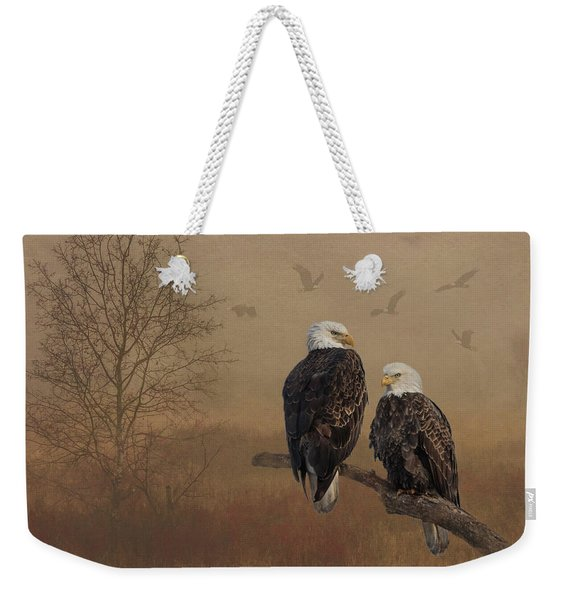 American Bald Eagle Family Weekender Tote Bag