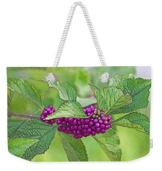 American Beautyberry Weekender Tote Bag
