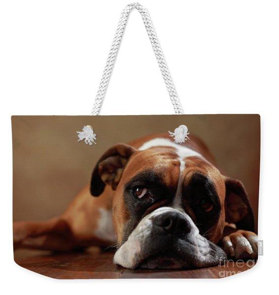 American Boxer Dog Weekender Tote Bag