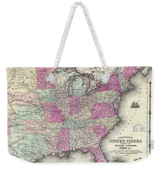 American Civil War Military Stations And Forts Weekender Tote Bag