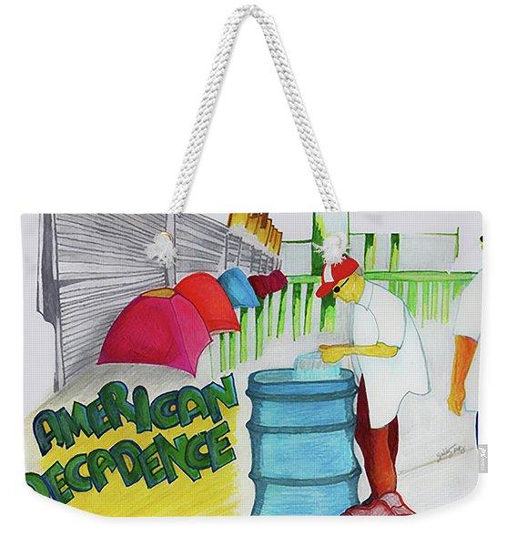 American Decadence Weekender Tote Bag