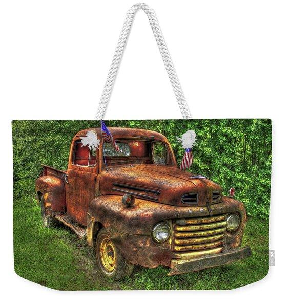 American Ford 1950 F-1 Ford Pickup Truck Art Weekender Tote Bag