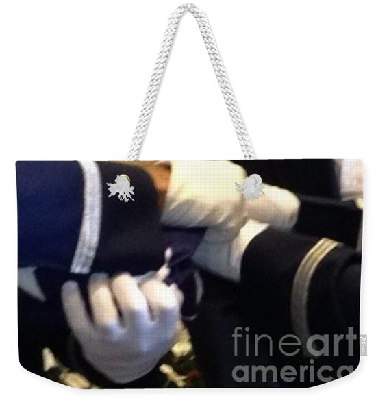 Weekender Tote Bag featuring the photograph American Honor by Laurie Lundquist