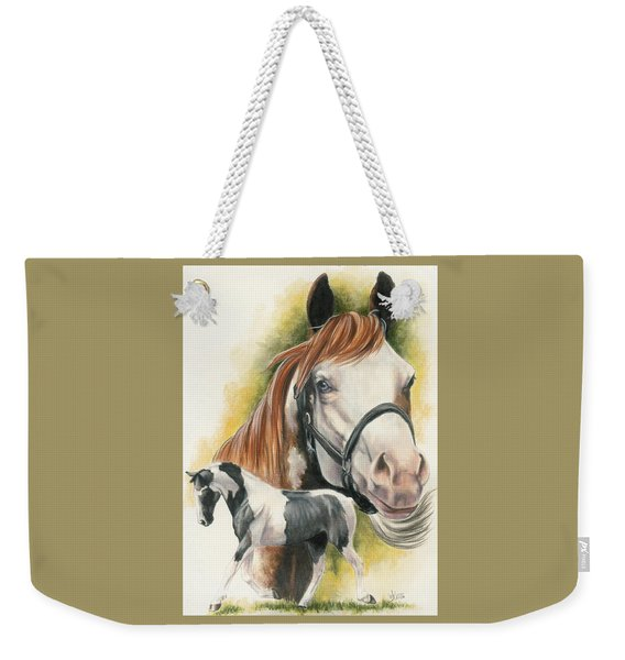 Weekender Tote Bag featuring the mixed media American Paint by Barbara Keith