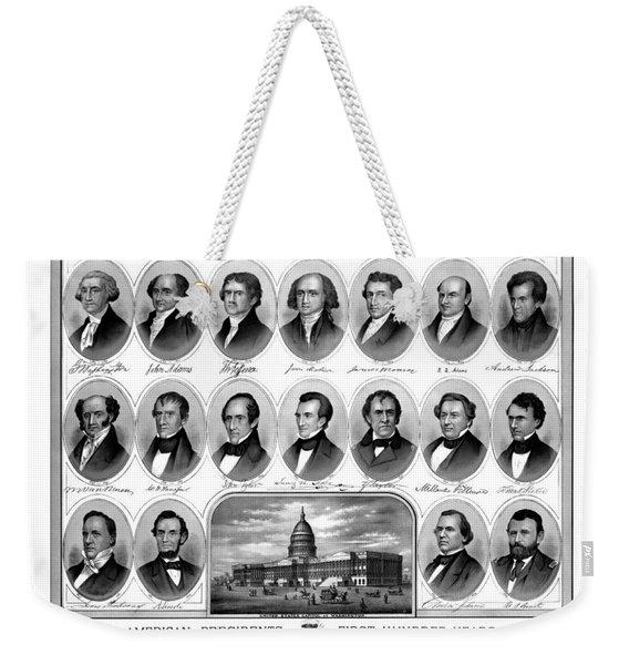 American Presidents First Hundred Years Weekender Tote Bag