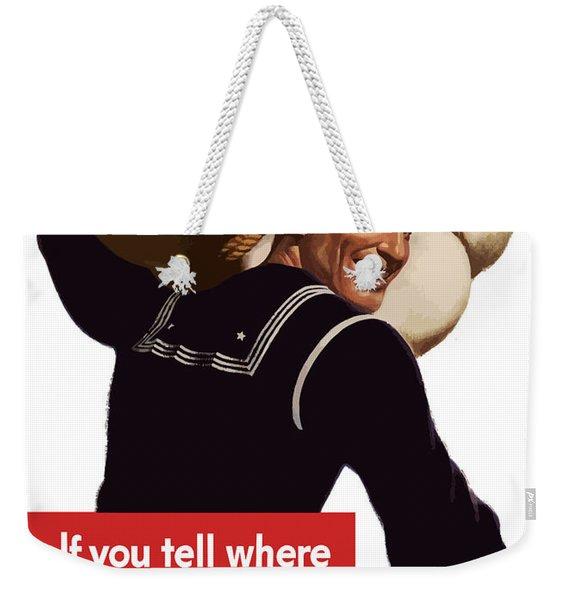 American Sailor -- Ww2 Propaganda Weekender Tote Bag