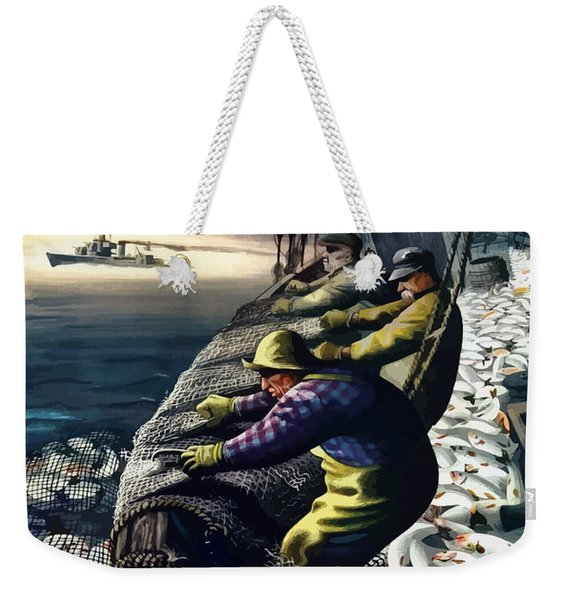America's Fishing Fleet And Men  Weekender Tote Bag