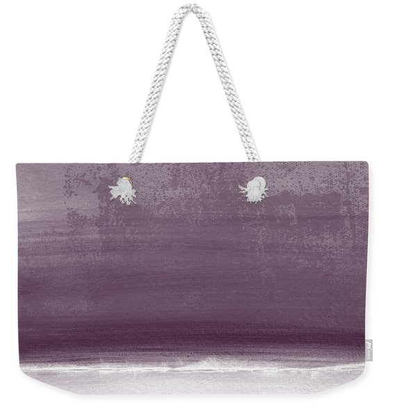 Amethyst Shoreline- Abstract Art By Linda Woods Weekender Tote Bag