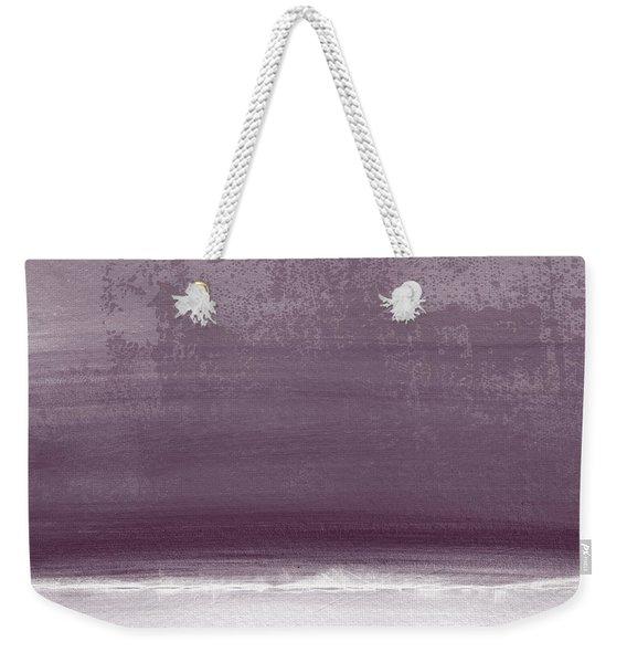 Amethyst Shoreline- Abstract Art By Linda Woods Weekender Tote Bag