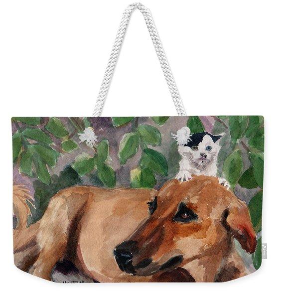 Amira And Junior Weekender Tote Bag