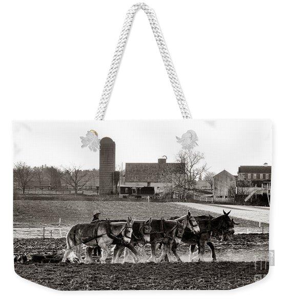 Amish Agriculture  Weekender Tote Bag