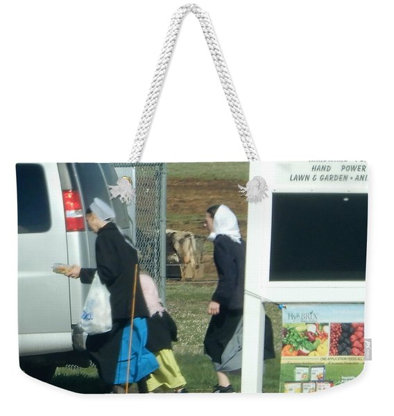 Amish Auction Weekender Tote Bag