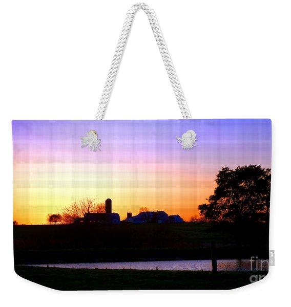 Amish Farm Sunset Weekender Tote Bag