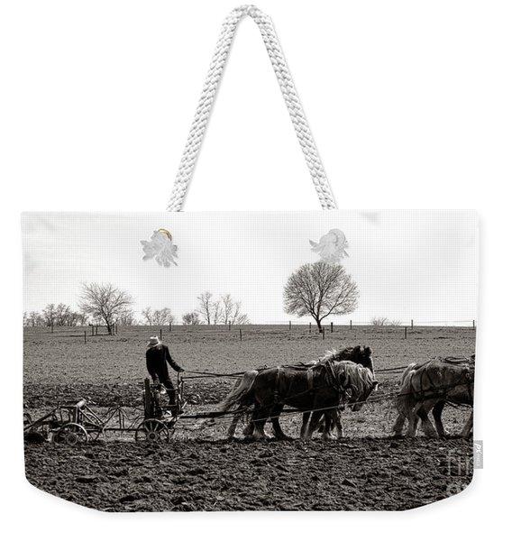 Amish Farming Weekender Tote Bag