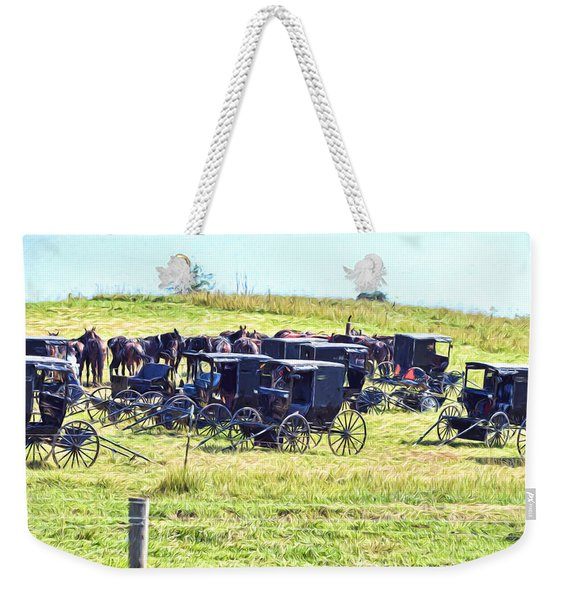 Amish Hillside Weekender Tote Bag