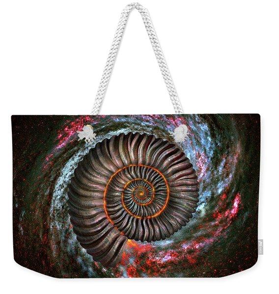 Ammonite Galaxy Weekender Tote Bag