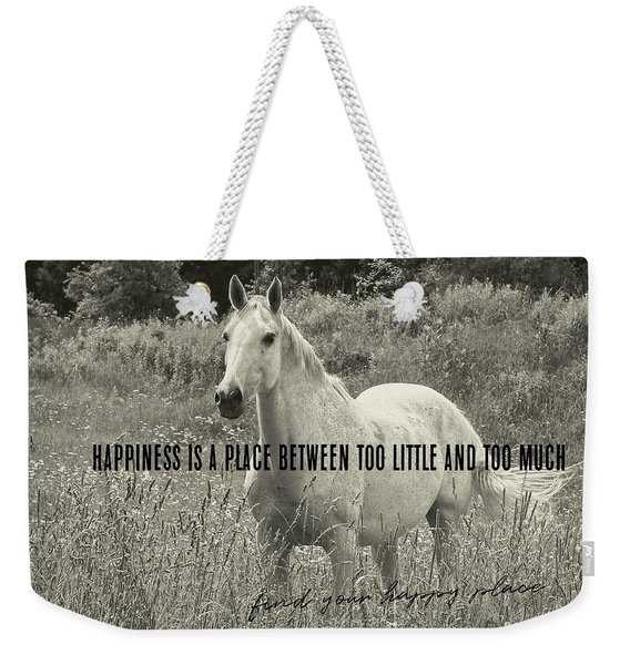 Among The Daisies Quote Weekender Tote Bag