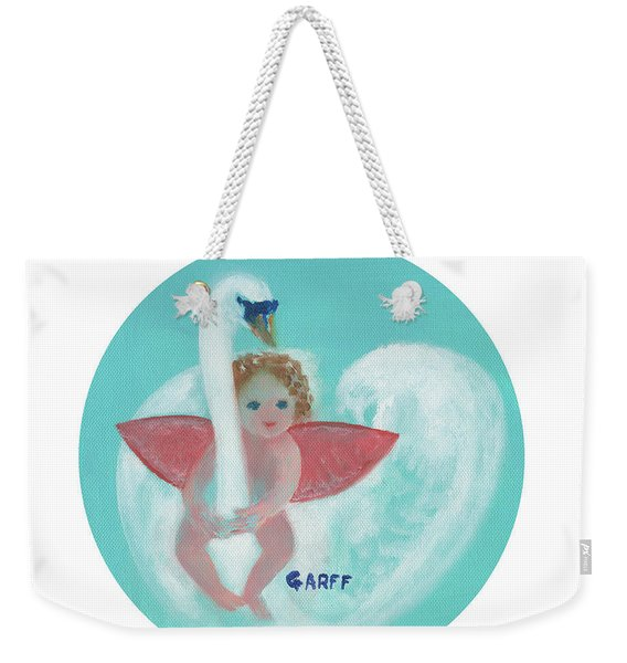 Amorino With Swan Weekender Tote Bag