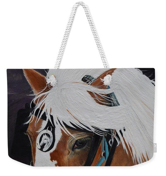 Amos - Haflinger - Horse Weekender Tote Bag