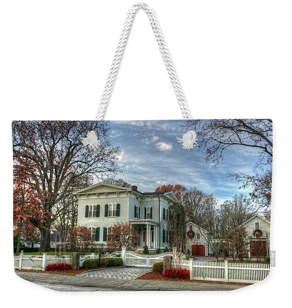 Amos Tuck House In Late Autumn Weekender Tote Bag