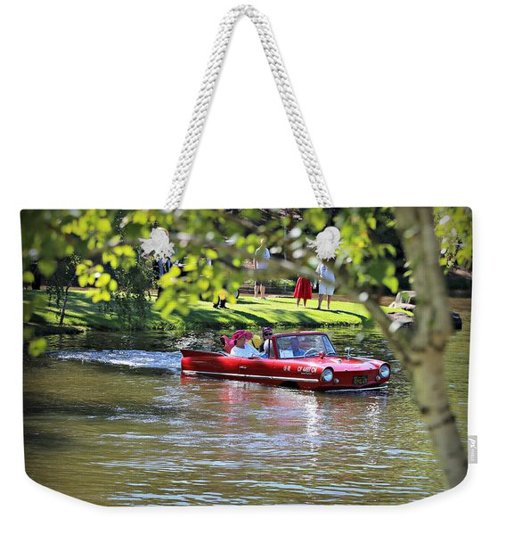Amphicar Swimming Weekender Tote Bag